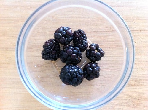Reserved Blackberries for Garnish