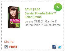 $2.00/1 Garnier Herbashine Color Creme Coupon