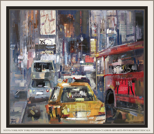 NUEVA YORK-NEW YORK-ESTADOS UNIDOS-AMERICA-EEUU-TAXIS-PINTURA-PAINTINGS-CUADROS-ART-ARTE-PINTOR-ERNEST DESCALS