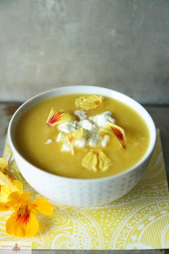 Yellow Summer Garden Vegetable Soup Heather Christo