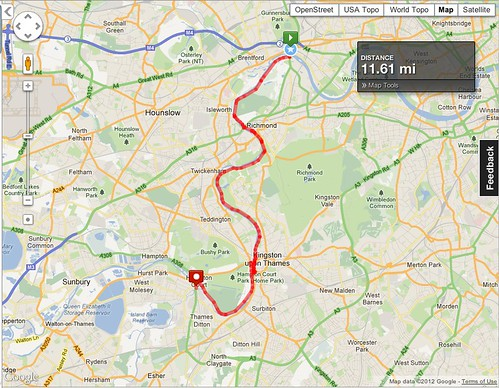 Thames Path 03 - MapMyRide route