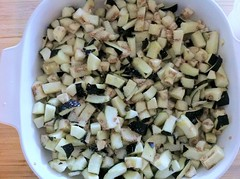 Diced Eggplant Sprinkled With Salt