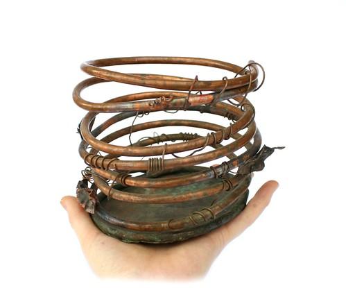 Handmade Copper Orchid Planter Pot