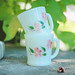 fire king peach blossom mugs