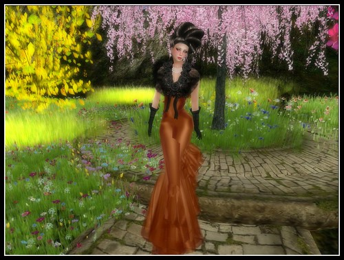 :: PM :: Jules Gown in Orange - 16000 Members Group Gift by Cherokeeh Asteria