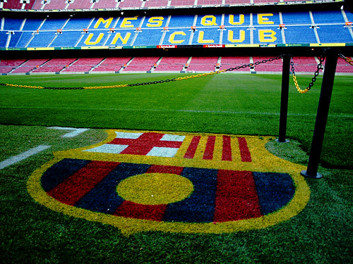 Football Pitch, Camp Nou, Barcelona