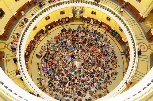August 2012 OM the DOME: MedMob Austin, Texas Meditation Flash Mob