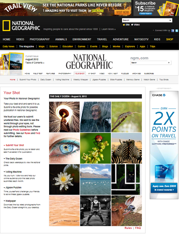National Geographic Daily Dozen Winner - Week 2 Aug 2012