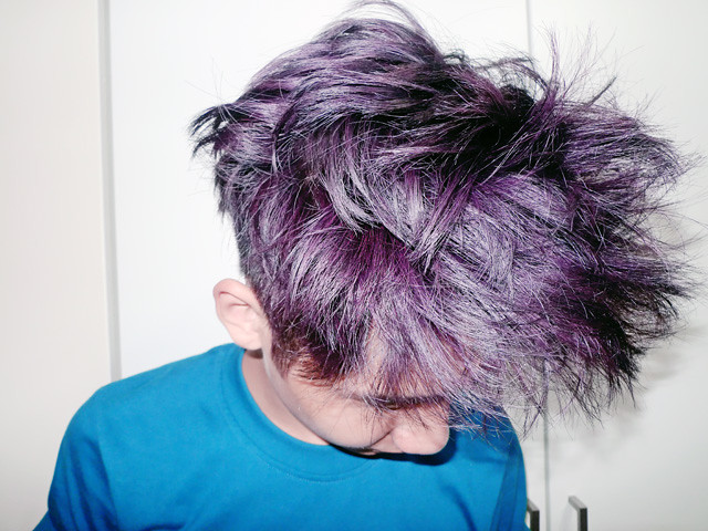 mauve dark purple hair