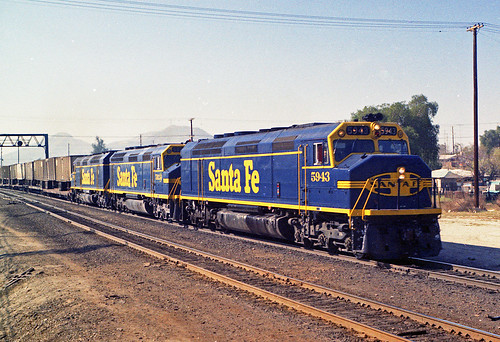 california santafe trains colton atsf superc fp45