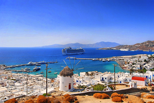 "Cruise Ship 'Ruby Princess"" in the Bay of Mykonos"