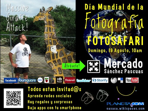 Atrévete = Be daring. Oaxaca Hosts World Photography Photo Safari Sunday August 19 #rtyear2012 #mexiconow #oaxacatoday