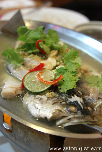 Steamed Siakap with Lime & Chilli, Basil Thai Nudle Bar