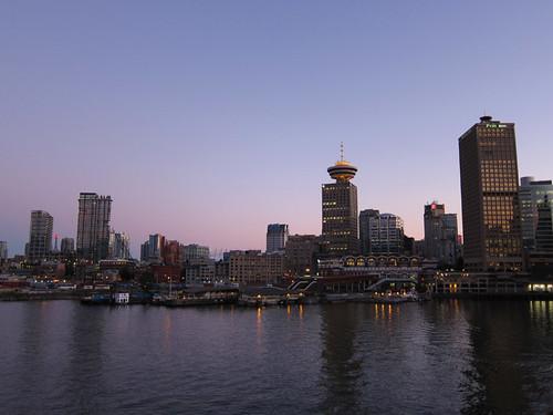 Vancouver skyline @ sunset
