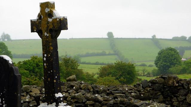 Irish Cross, Cemetery Raffney, County Cavan, Ireland