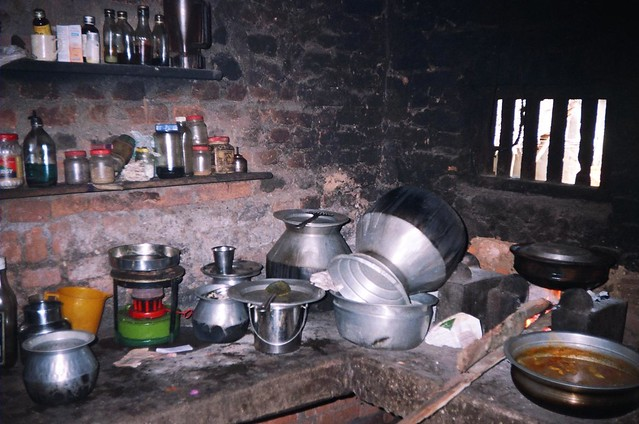 The fisherfolk's houses have very few amenities such as utensils, earthern pots or aluminium vessels that are used for cooking food on the adappa or mud chulhas. Majority of the households use wood as fuel, which fills the surroundings with smoke due to lack of adequate ventilation.
