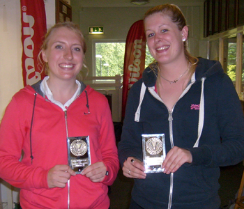 Bolton Badminton League Handicap Tournament 2012 Ladies Doubles Runners-up: Laura Bradley and Emma Greenwood