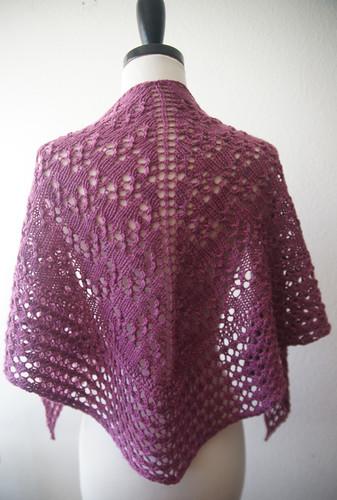 damson plum shawl