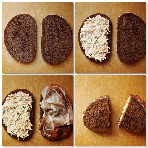 Making Of Carrot & Speck On Pumpernickel