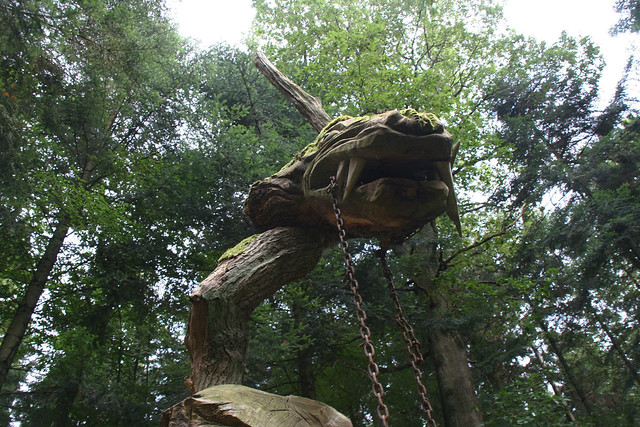 Dragon in the woods in Freiburg