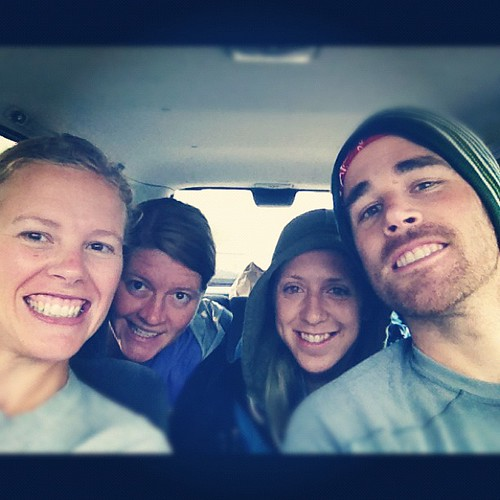 Siblings represented at the Tillamook Bay Run. Pre-race shot with @jakesterguy @_stout_  and #andreatheawesome
