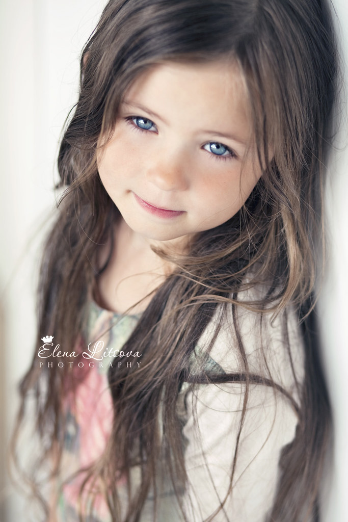 little girls with black hair and blue eyes