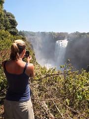 Sandra photographing Victoria Falls