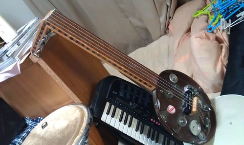 Homamade Fretless Baritone Guitar, :) by Kanda Mori