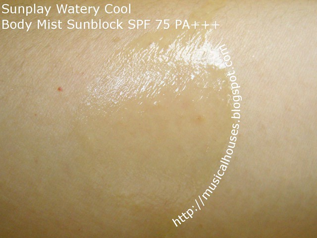 sunplay watery cool body mist sunblock spray