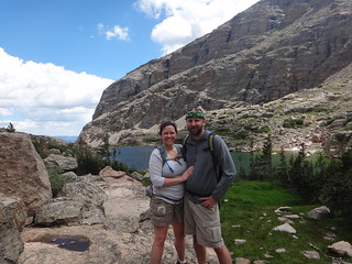 Happy Hikers at Sky Pond