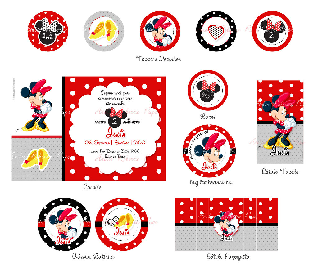 Kit Minnie Vermelha_Julia