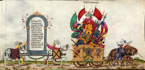 005-Triunfo del Emperador Maximiliano I…1700-Copyright Biblioteca Nacional de España