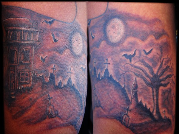 Graveyard cemetery tattoo flickr photo sharing for Cemetery tattoo pics