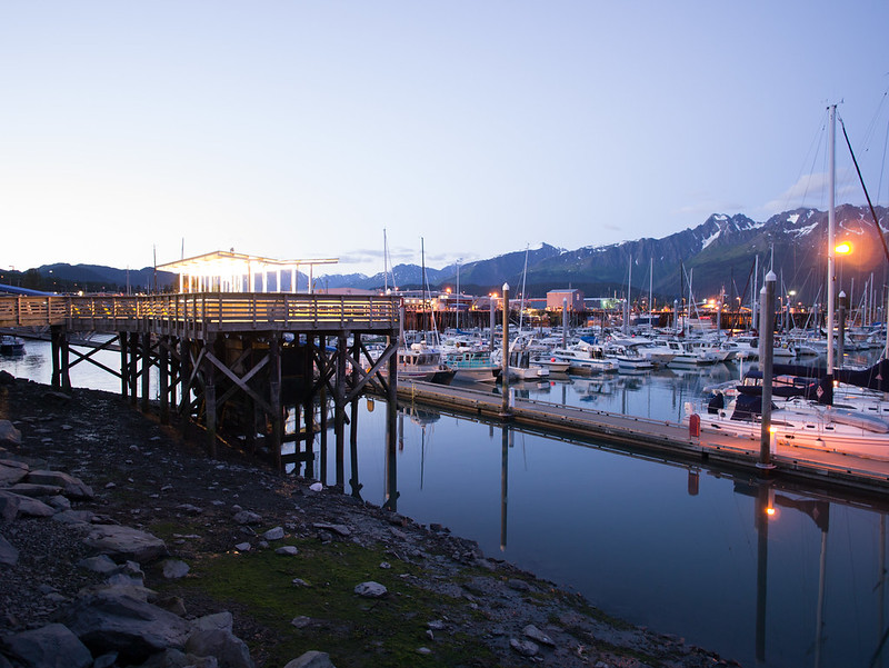 Seward Harbor at Night