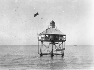 Pile Light in Moreton Bay, ca. 1909