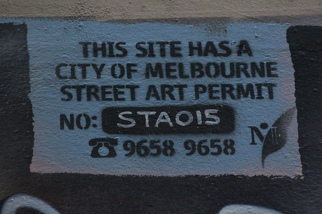 Melbourne Street Art Permit