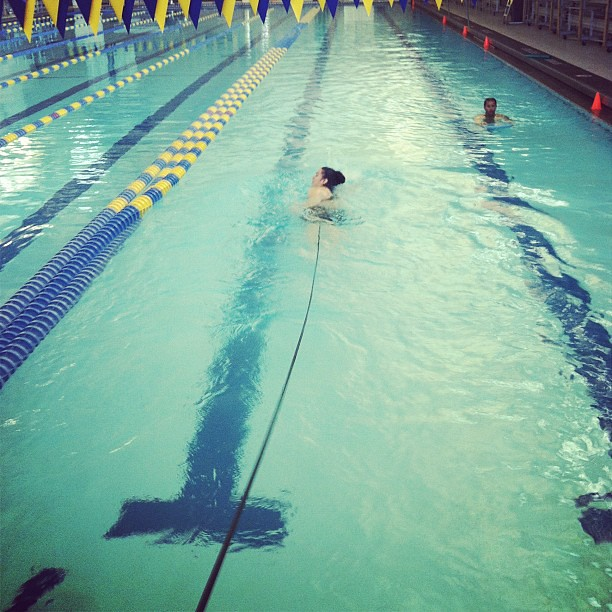 Fitness Bands You Can Swim With: @happyfeet025 Doing Resistance Band Swimming Today While