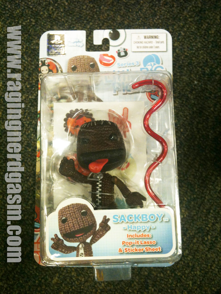 Mezco Playstation Little Big Planet Action Figures Sackboy Happy004