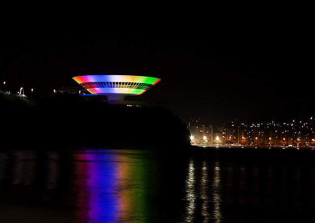MAC -  Museu de Arte Contemporânea - Olympics colors.