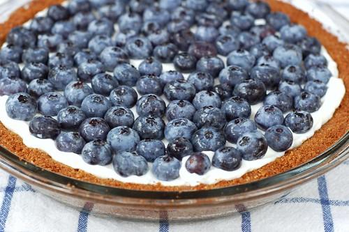 Blueberry yogurt tart with ginger graham crust by Eve Fox, Garden of Eating blog, copyright 2012