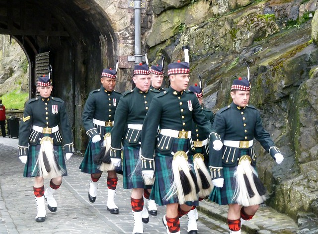 Scottish Soldiers in Ceremonial Dress