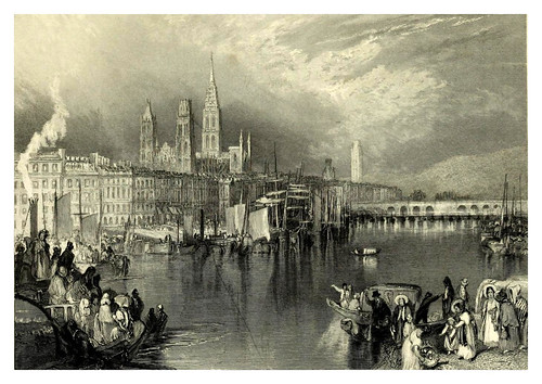 012-Puerto de Rouen-Wanderings by the Seine (1834)- Joseph Mallord William Turner