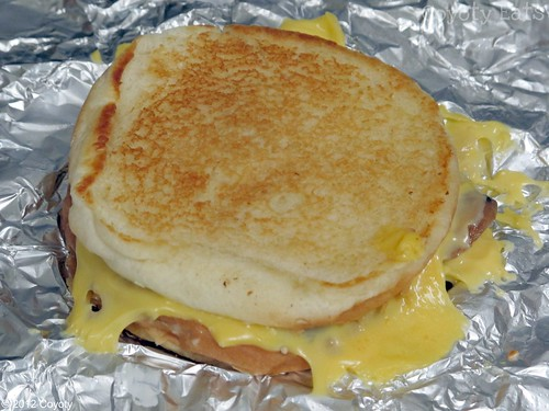 Five Guys grilled cheese with grilled onions and grilled mushrooms by Coyoty