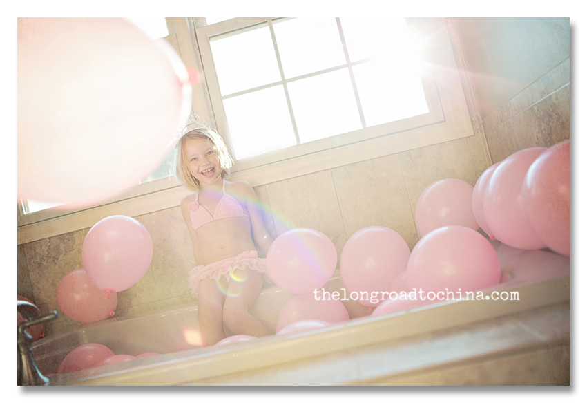 Princess Sarah Sitting in her Balloons BLOG