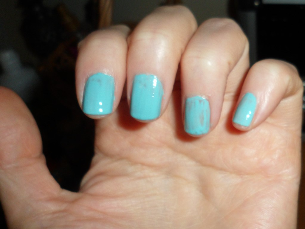 Wet n Wild Mint Nail Polish I Need A Refresh /  218A  with 1 coat