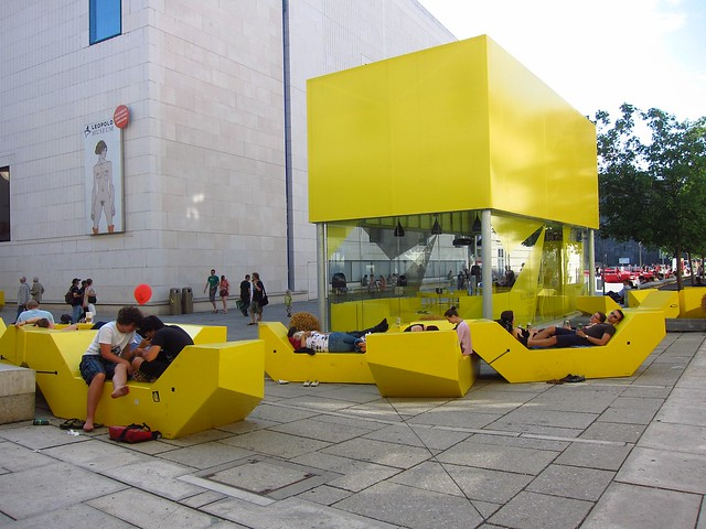 Summer Lounging in the MuseumsQuartier