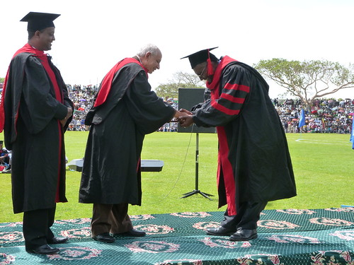 Azage Tegegne being awarded his degree