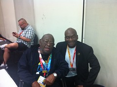 Morrie Turner And Zennie Abraham At Comic Con 2012