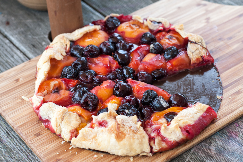 Cherry and apricot tart