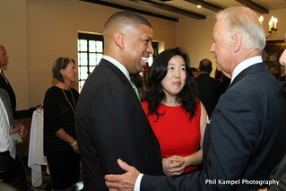 Mayor Johnson, Vice President Biden and Michelle Rhee